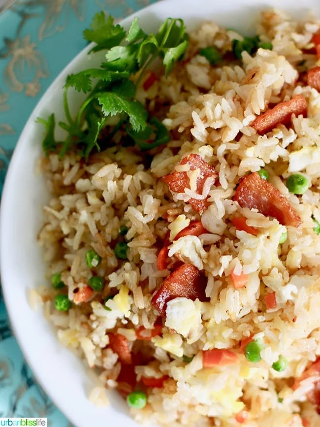 My Filipino Fried Rice with Bacon or Sausage