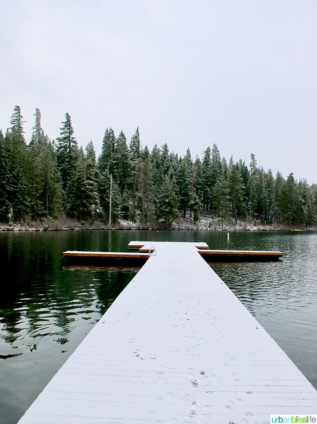 dock at Suttle Lake at Suttle Lodge in Sisters, Oregon