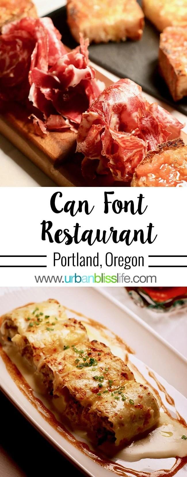 Can Font Portland: Catalan Cuisine in Portland, Oregon.