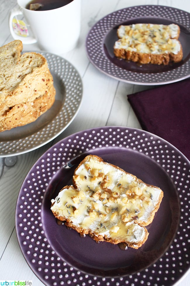 Honey Walnut Lavender with goat cheese, recipe on UrbanBlissLife.com