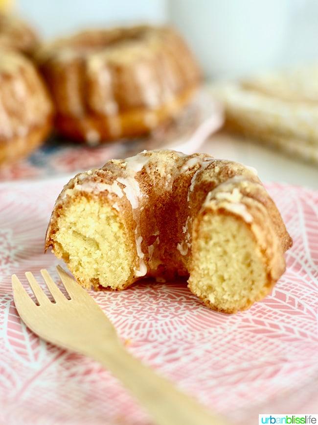 Mini Citrus Bundt Cakes inside