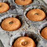 Mini Citrus Bundt Cakes in pan