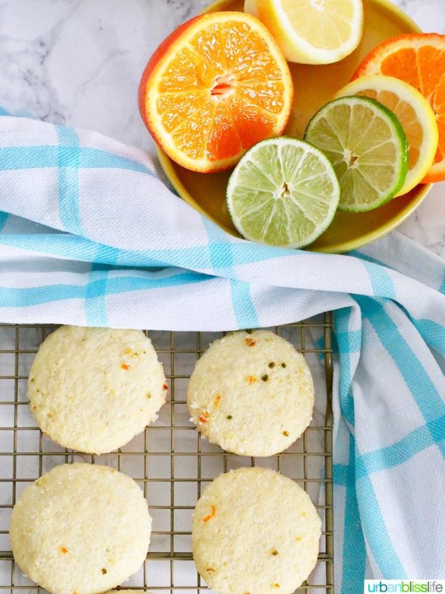 Citrus Sugar Cookies recipe on UrbanBlissLife.com