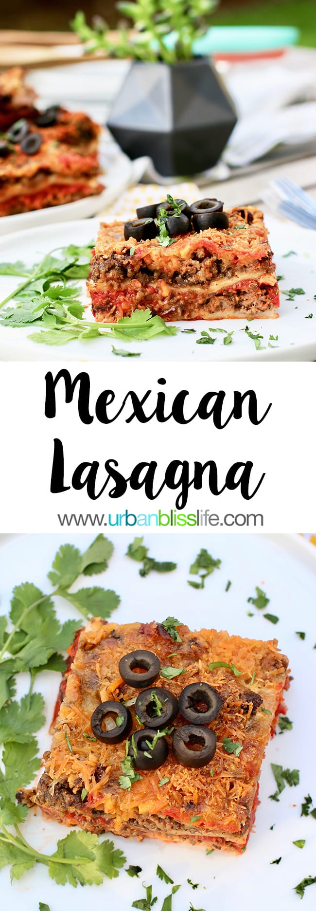 Mexican Lasagna recipe on UrbanBlissLife.com