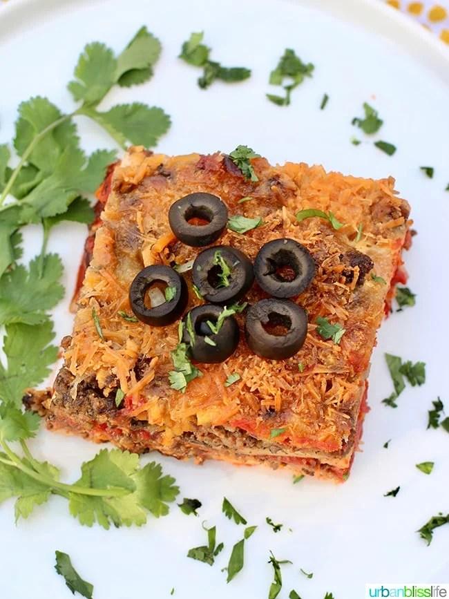 Mexican Lasagna single flat