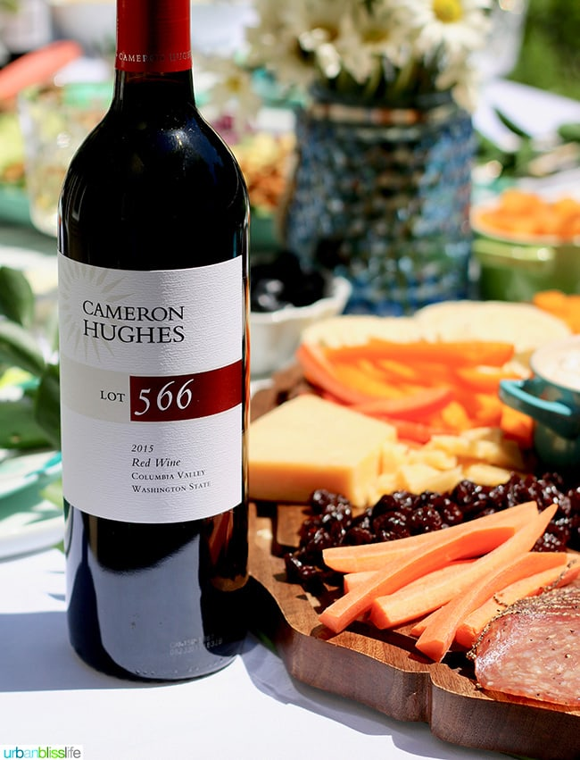 sunny summer soiree red wine