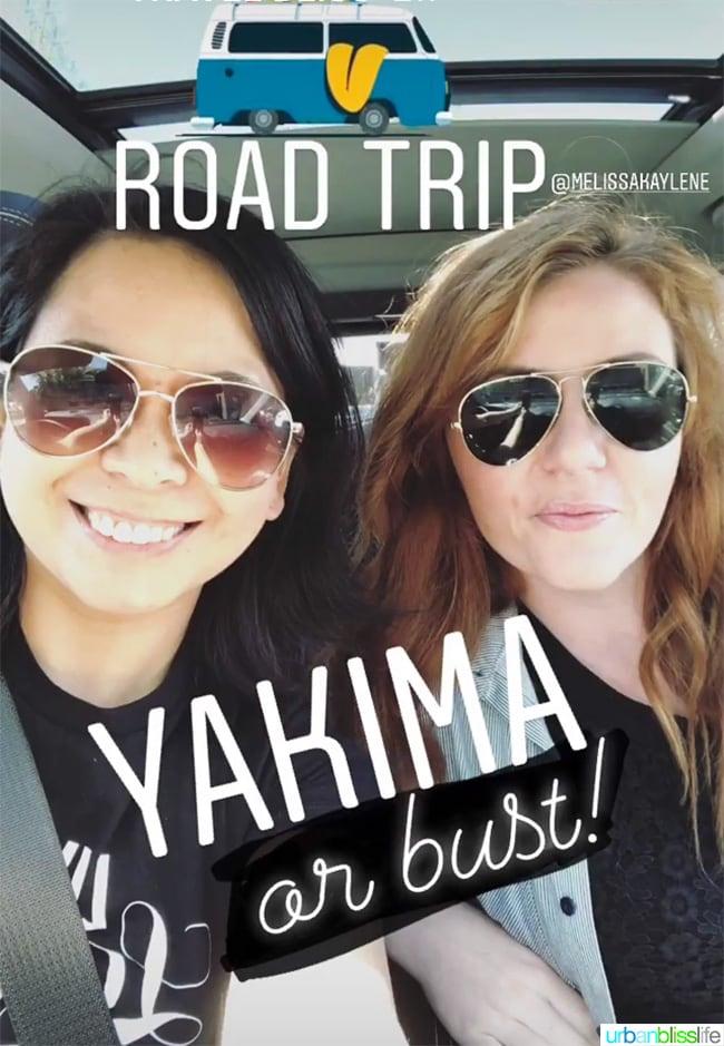 Road trip from Portland, Oregon to Yakima, Washington