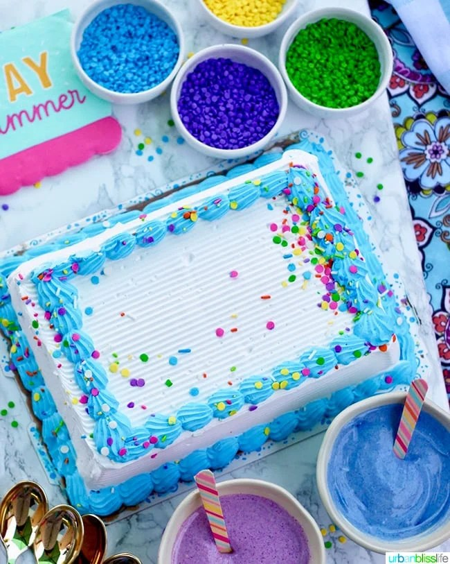 Easy Homemade Unicorn Magic Shell for Ice Cream Cake
