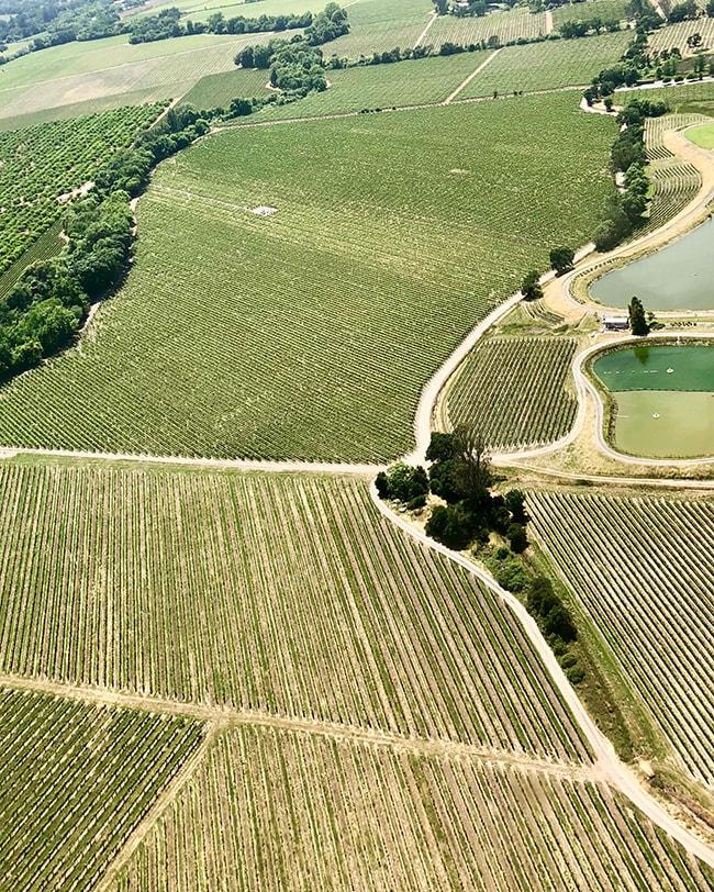 farmland views from airplane
