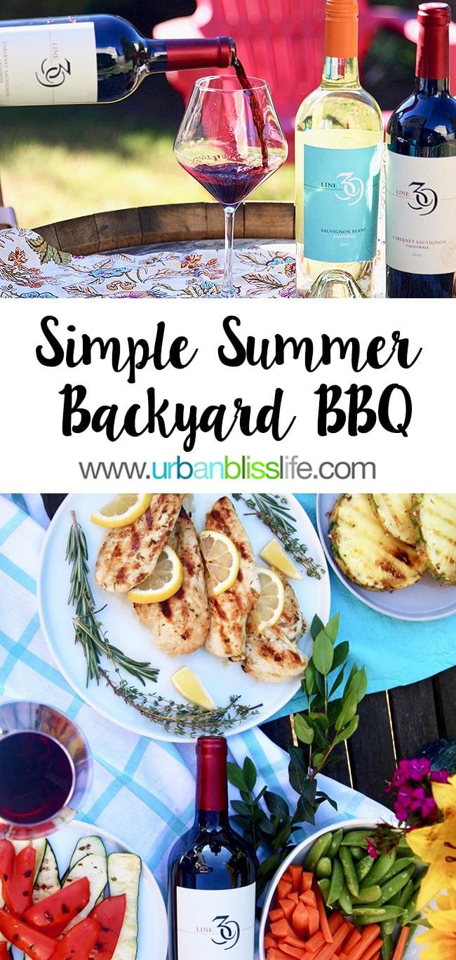 Simple backyard BBQ