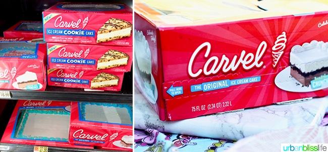 carvel ice cream cake with confetti