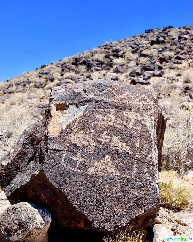petroglyph in Albuquerque, New Mexico