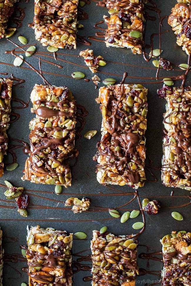 cranberry almond granola bars