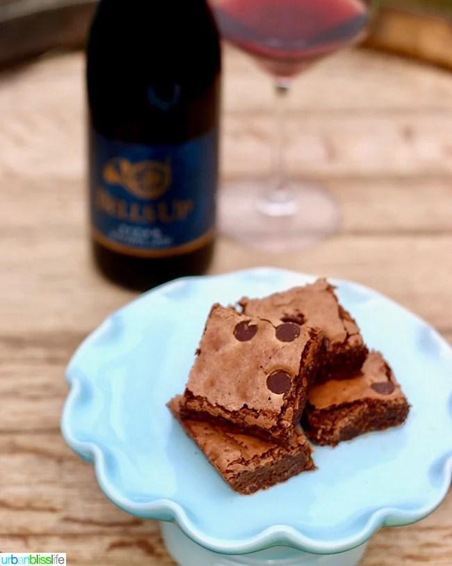 Pinot Noir Chocolate Chip Brownies