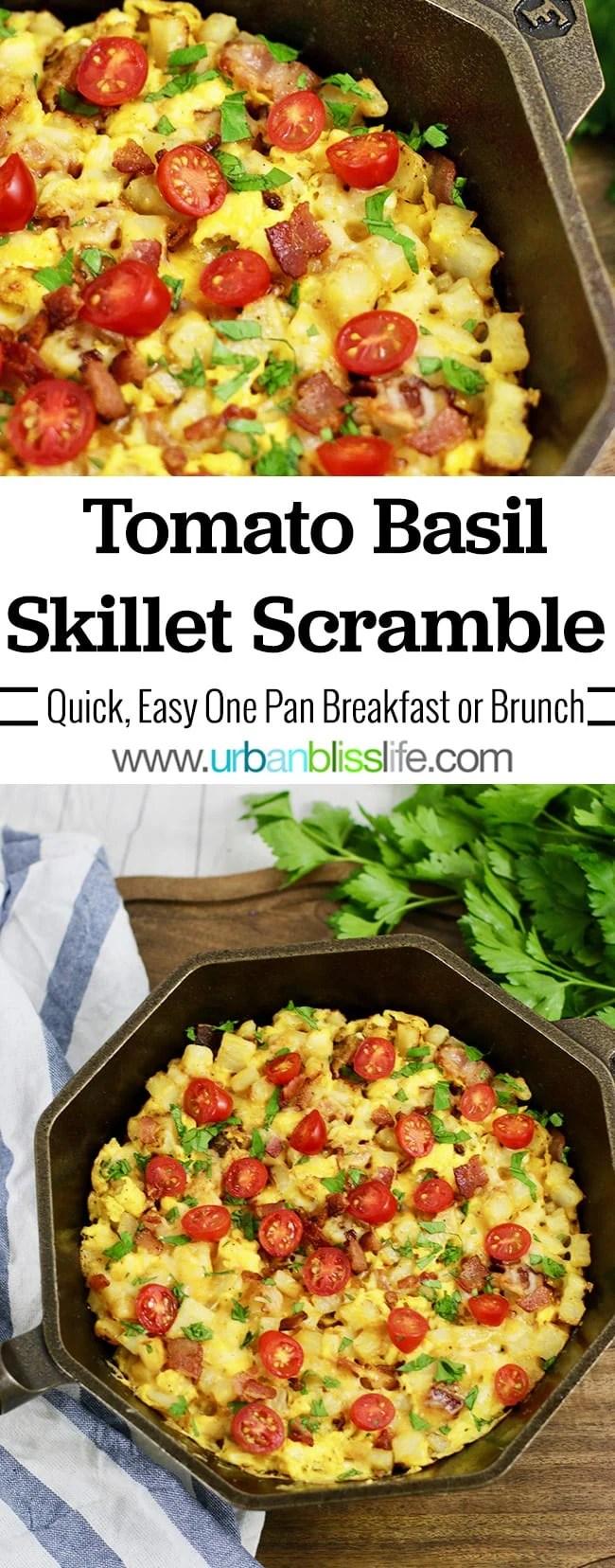Tomato Basil Skillet Scramble
