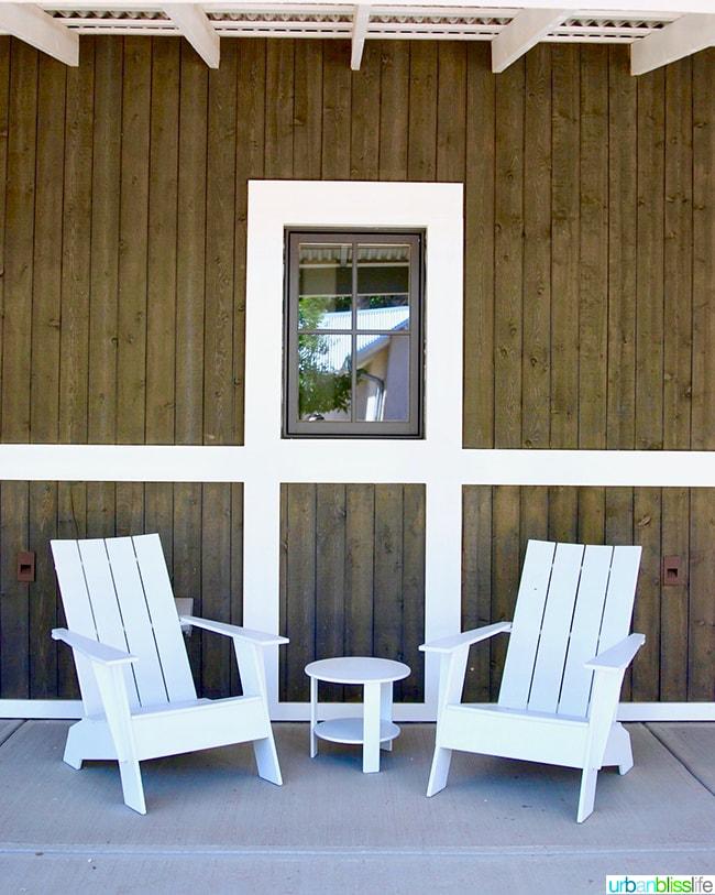 adirondack chairs Los Poblanos Inn Albuquerque New Mexico