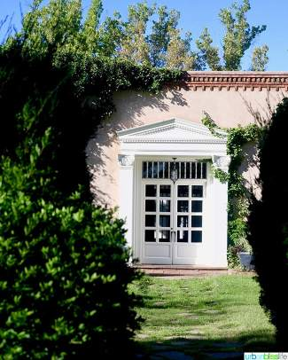 picturesque doorway Los Poblanos Inn Albuquerque New Mexico