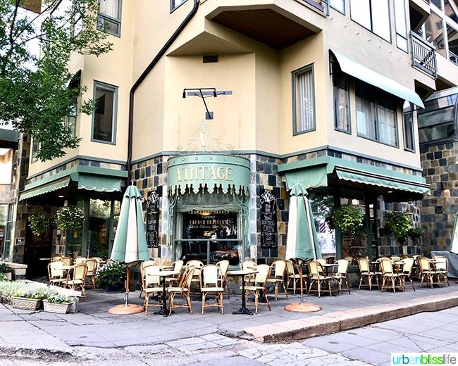 Vail Colorado European cafe