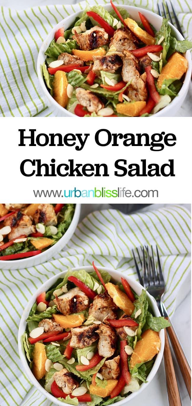 honey orange chicken salad recipe