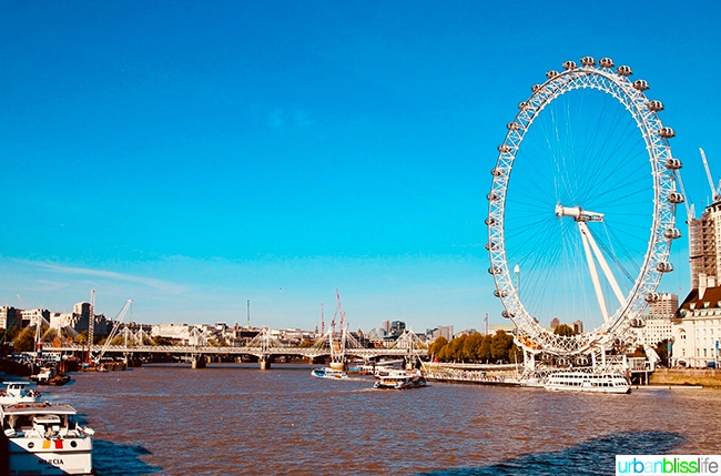 London Eye Thames River
