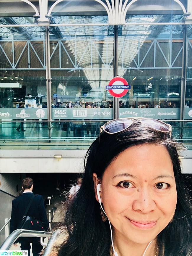 Marlynn at London Paddington Station