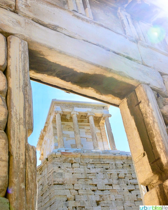 Temple of Athene Nike at the Acropolis in Athens, Greece
