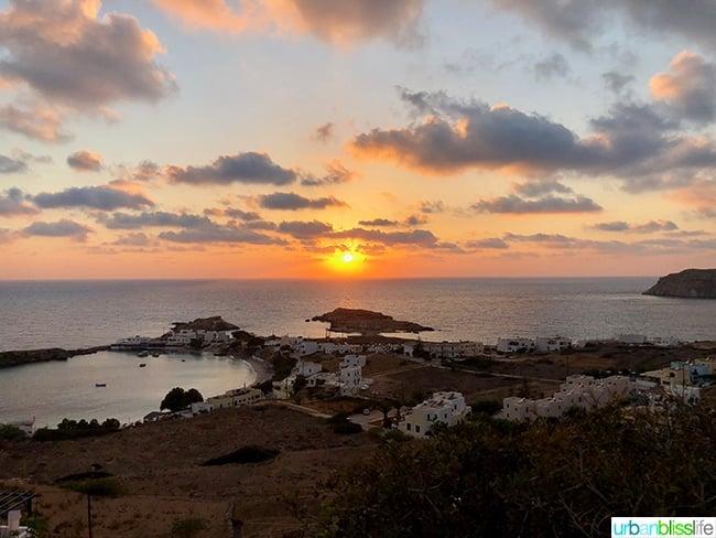 Sunset at Lefkos Karpathos Island Greece