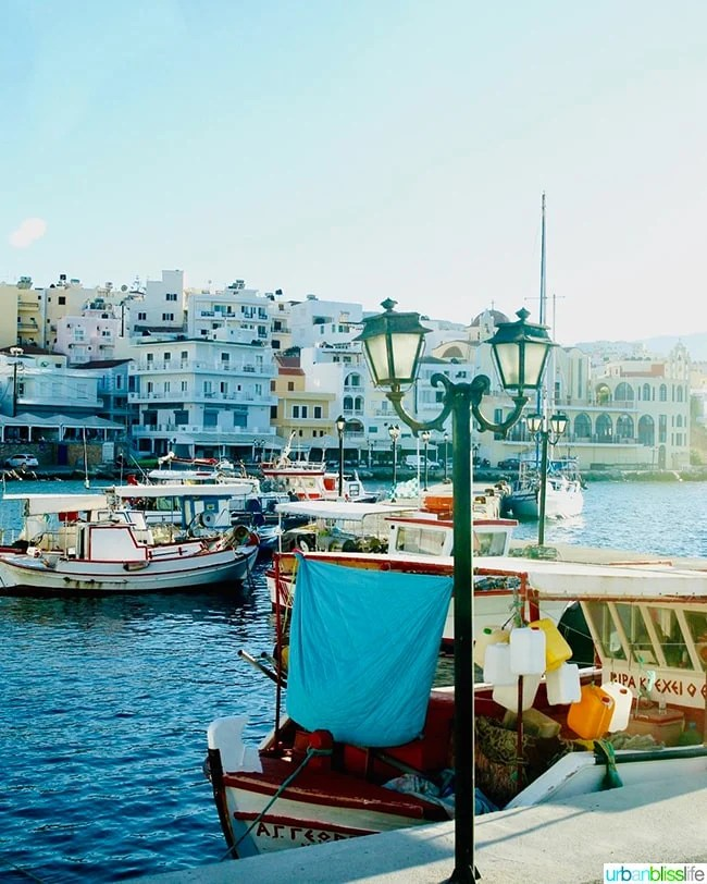 boats in the port of Pigadia on Karpathos Island, Greece