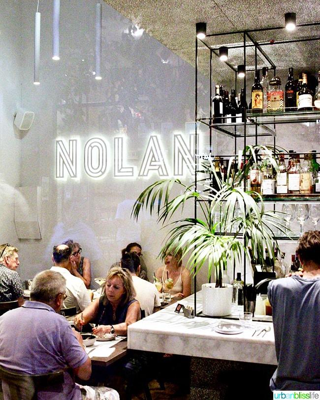 DInner at Nolan Restaurant in Athens, Greece