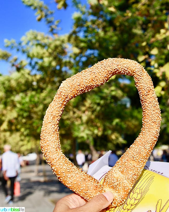 Koulouri in Syntagma Square in Athens, Greece
