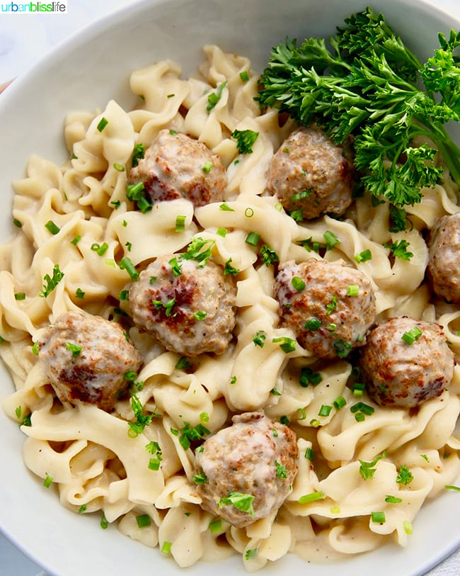Instant Pot Swedish Meatballs close up