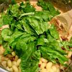 adding spinach to Dairy-Free Instant Pot Tuscan Chicken Pasta
