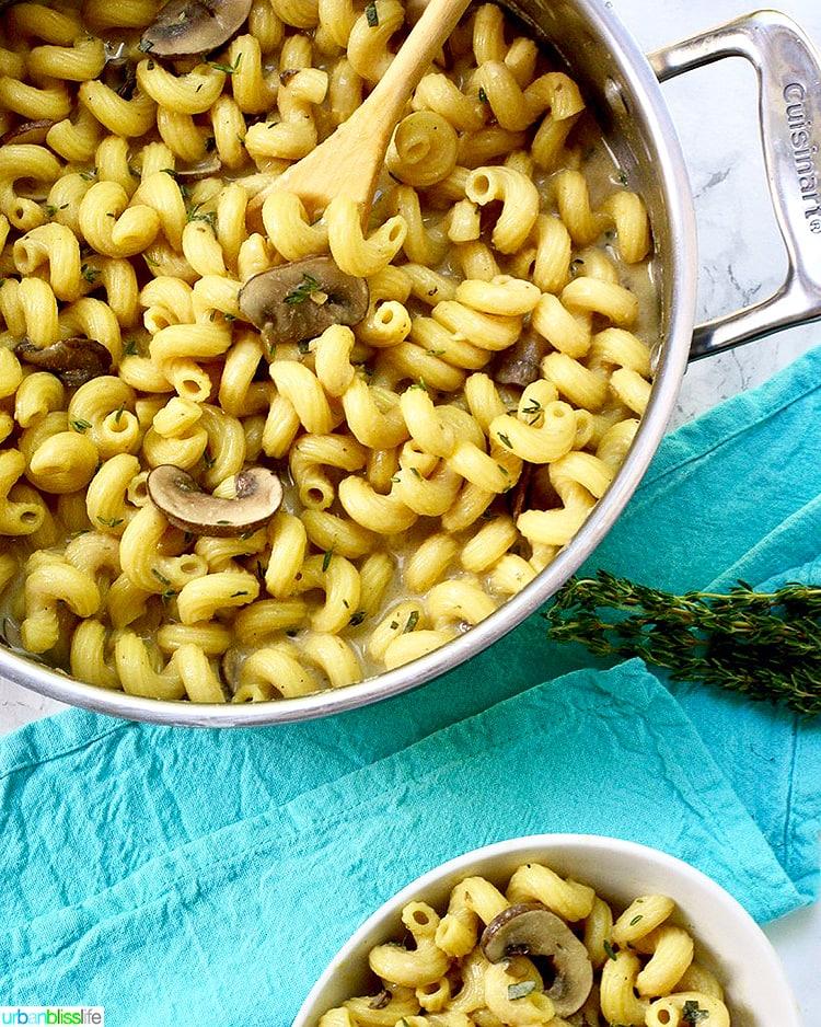 Creamy Vegan Mushroom Pasta in bowl