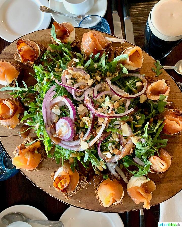 Guinness Storehouse salmon salad