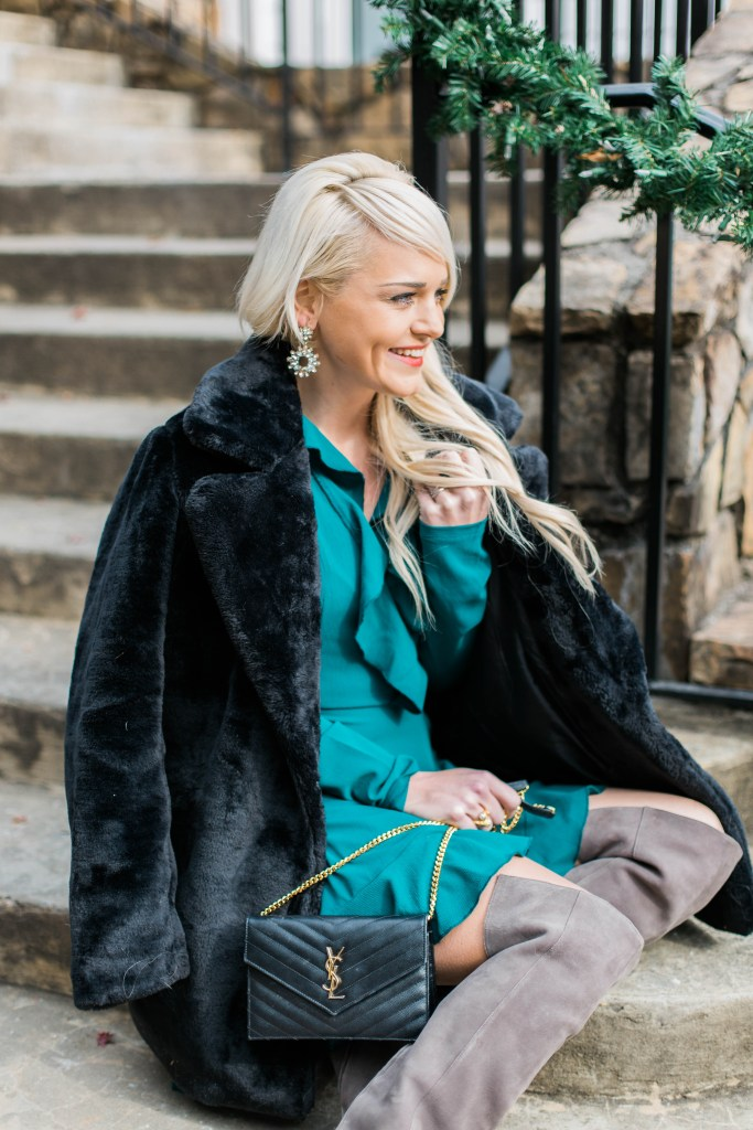 home-for-the-holidays-we-got-a-puppy-faux-fur-coat-ysl-bag-urban-blonde-holiday-fashion