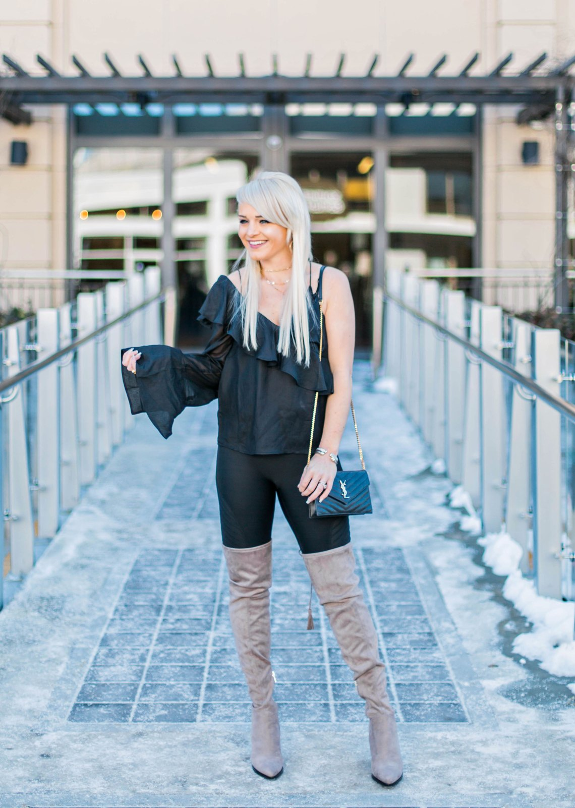 one-shoulder-top-for-27-nordstrom-ruffles-winter-style-boots-marc-fisher-urban-blonde-winter-fashion