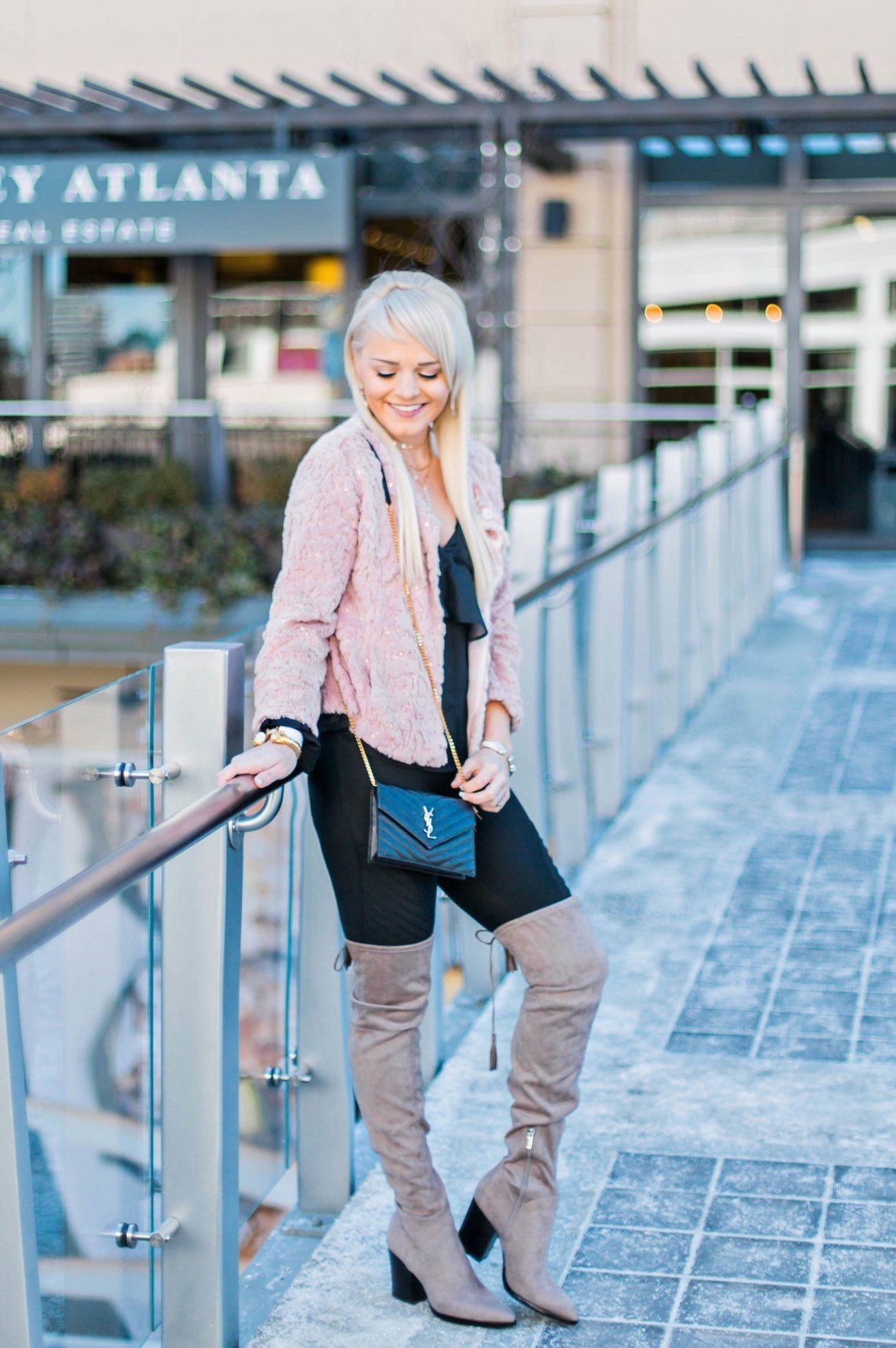 one-shoulder-top-for-27-nordstrom-ruffles-winter-style-boots-pink-faux-fur-jacket-fashion-blogger