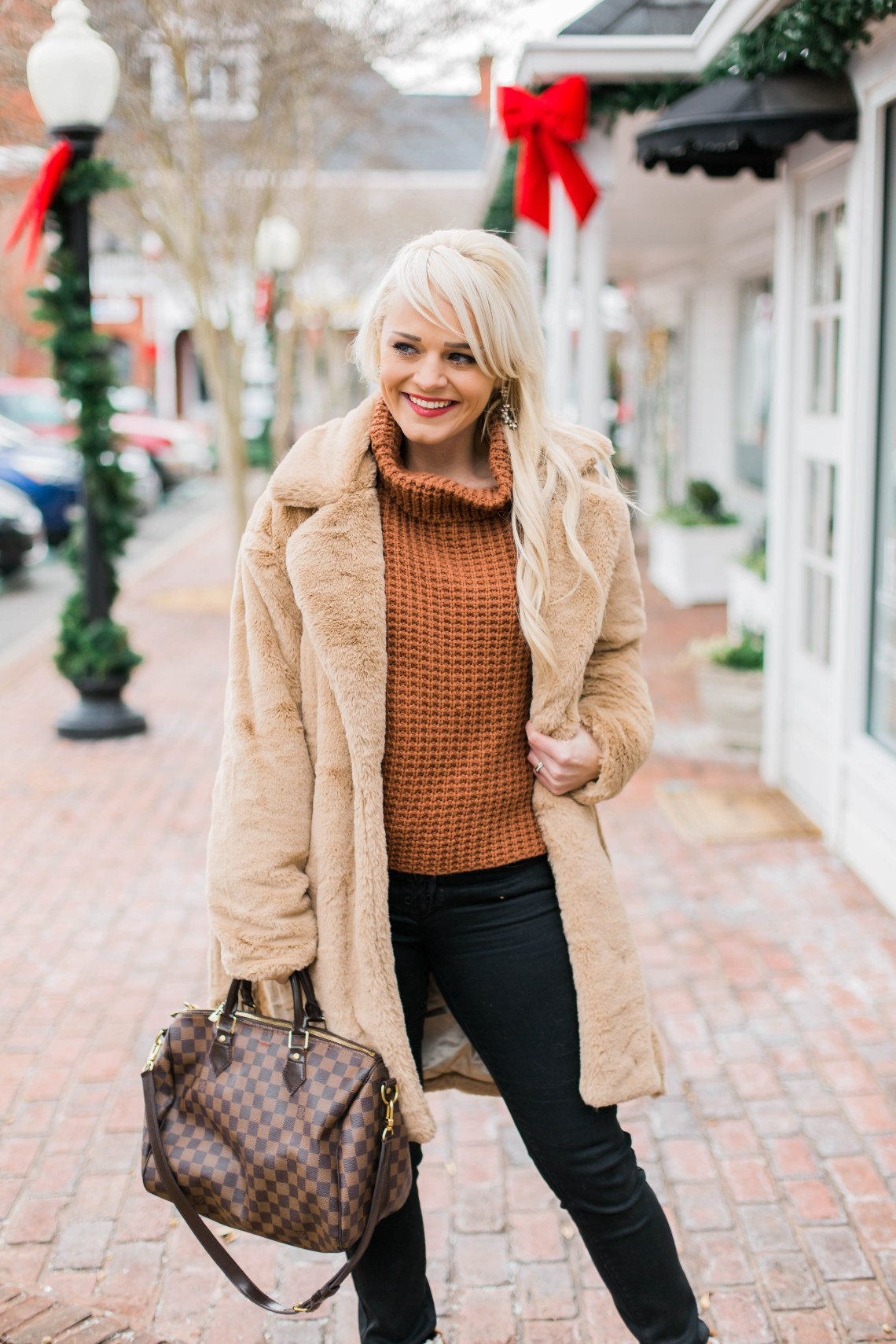 essential-winter-layers-free-people-sweater-faux-fur-jacket-urban-blonde