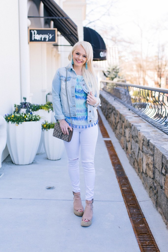 tassel-top-and-victoria-emerson-jewelry-denim-jacket-marc-fisher-wedges