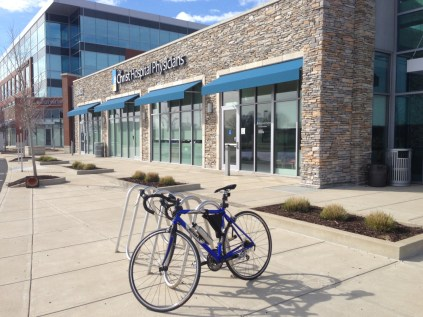 Lonely Bike Rack Outside Paycor HQ (James Bonsall)