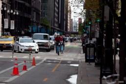 Dearborn Street Protected Bike Lane 3