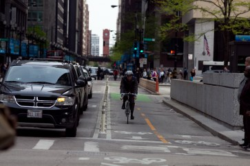 Dearborn Street Protected Two-Way Bike Lane [Jake Mecklenborg]
