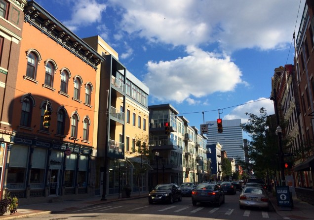 OTR's increasingly congested Vine Street at Fourteenth [Randy Simes]