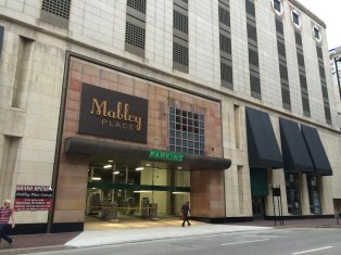 Mabley Place Garage Entrance on Fourth Street [Randy Simes]