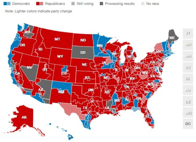 2014 Election House Results [CNN]