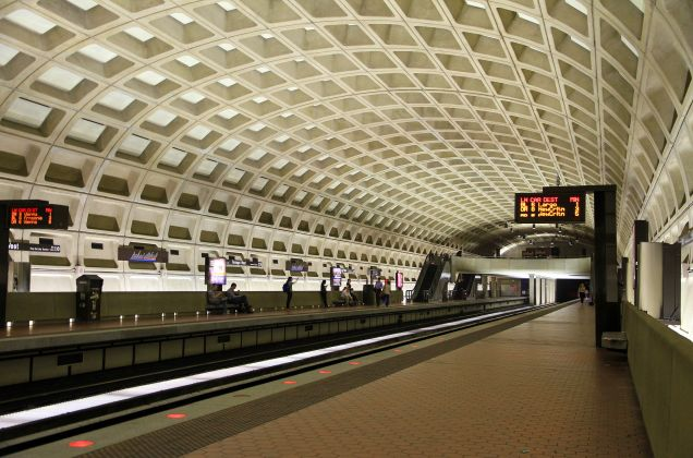 The Washington Metro's iconic vaulted station design was actually a cost-saving measure. [Wikimedia Commons]