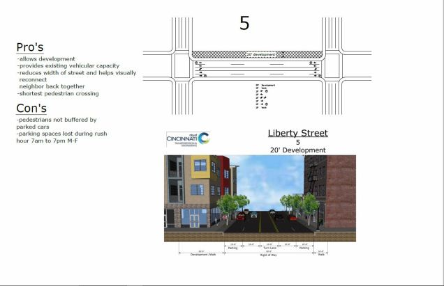 Final plan of proposed narrowing of Liberty Street