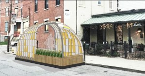Wish-Igloo Parklet at Left Bank Coffeehouse [Provided]