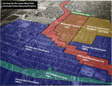 Graphical estimation of Urban Renewal projects in the West End. Illustration by John Yung