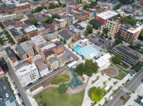 Aerial of the completed Ziegler Park [Photo by Travis Estell]